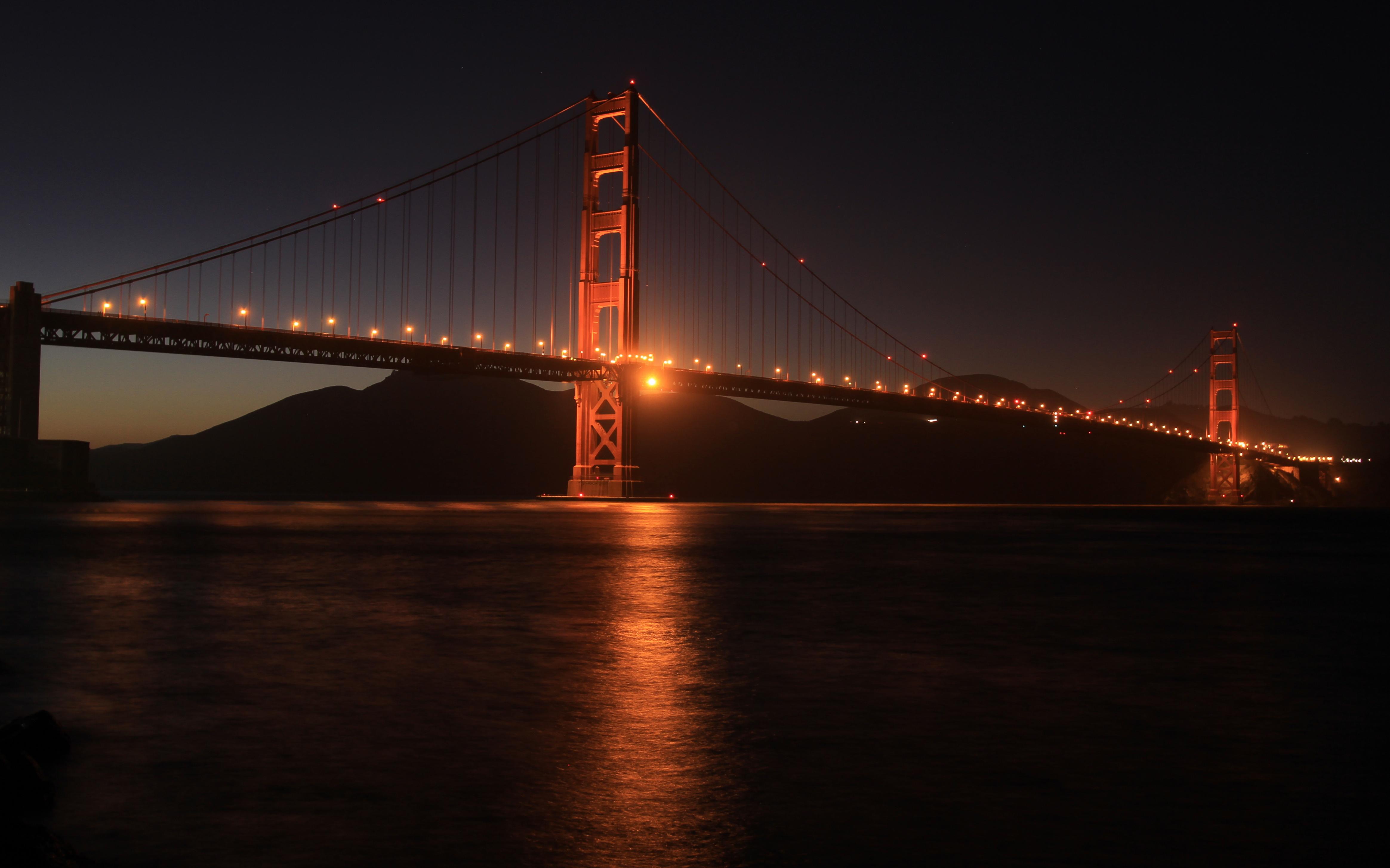 Golden gate bridge snapshots for sore eyes for Golden night