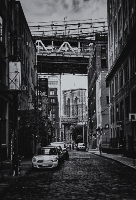 Brooklyn Bridge as seen from Jay Street