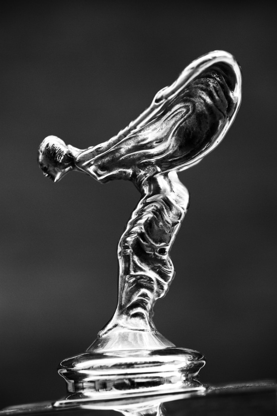 High Contrast version of Rolls Royce Hood Ornament