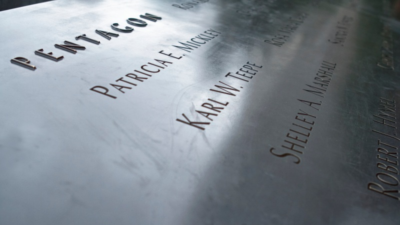 Pentagon Names on 911 Memorial