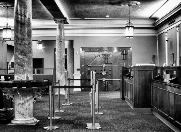 Bank Lobby with Vault