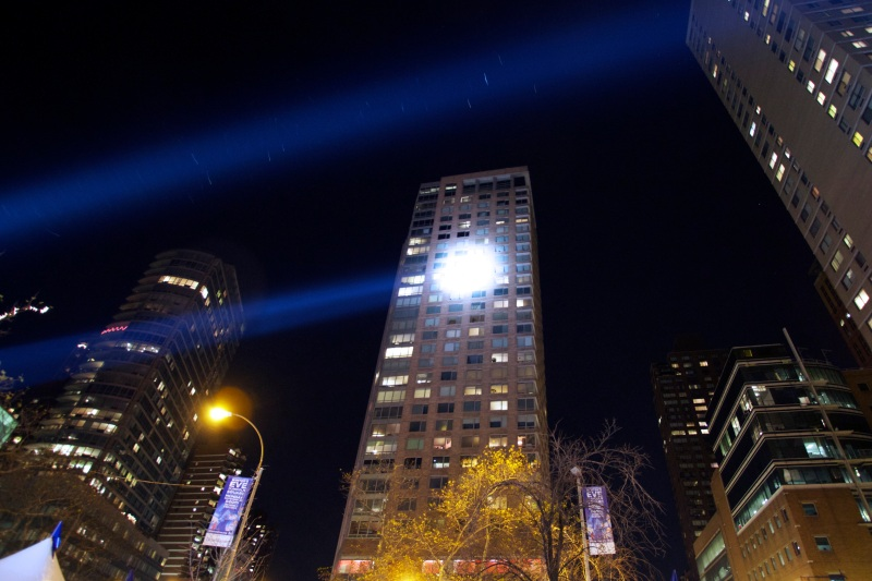 Searchlights in Manhattan