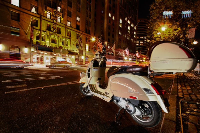 Vespa Scooter in Manhattan