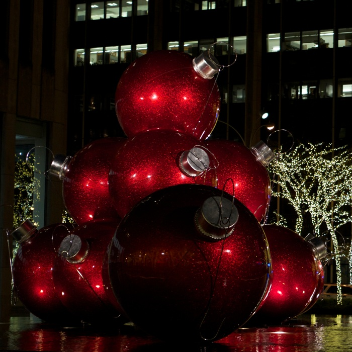 Christmas Ornaments on 6th Ave