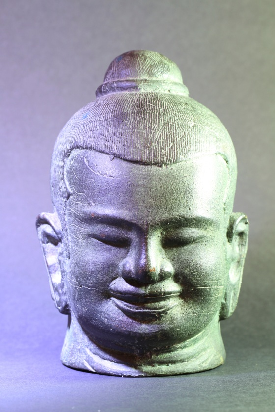 Buddha head, copper