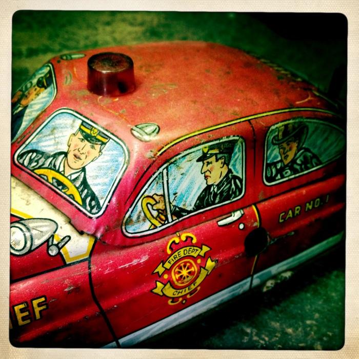 Cast Iron Police Car
