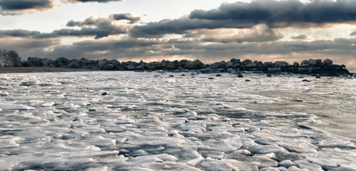 Frozen Beach Panorama