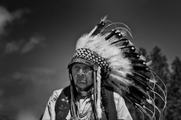 Indian Chief at pow-wow
