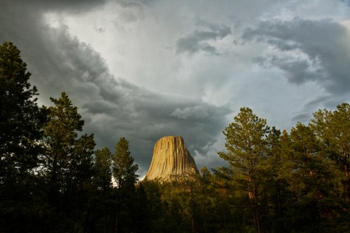 Storm over Devils Tower