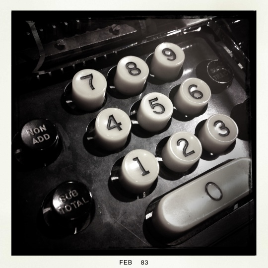 Bank adding machine