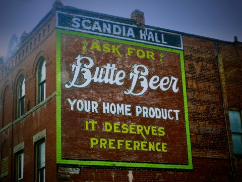 Butte Beer Advertising
