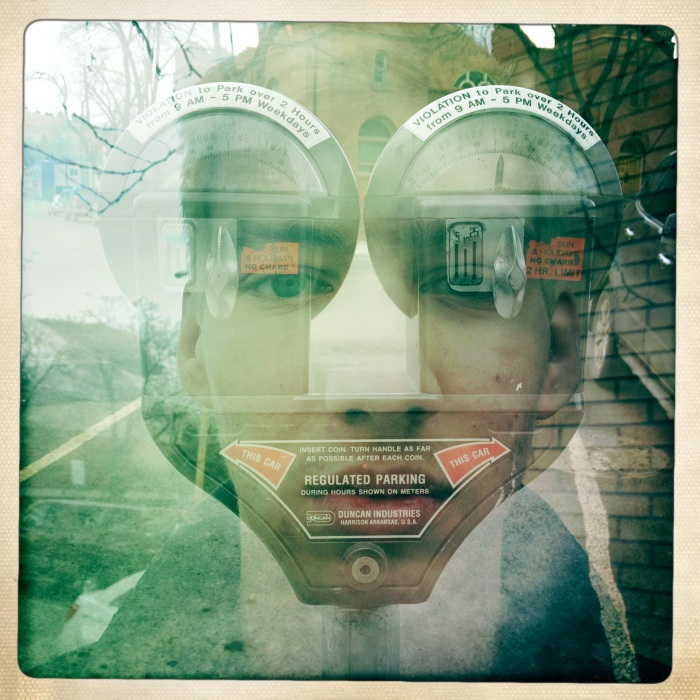 Parking Meter Double Exposure