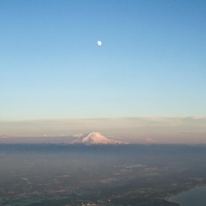 Mt Rainier Moonrise