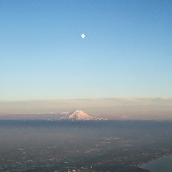 Mt Rainier Moonrise
