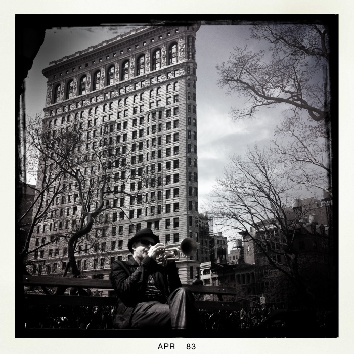 Jazz in front of the Flatiron Building