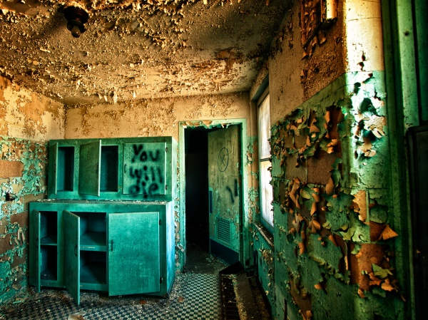 Old Sanatorium Room in color