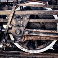 Vintage Steam Train Details