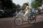 Bike rider withflowers