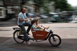 Bike rider with kids