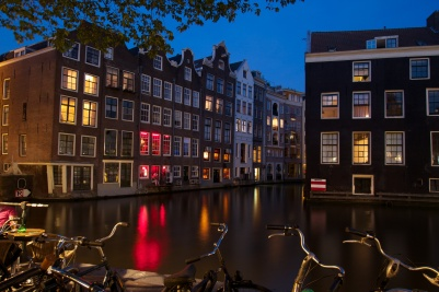 Night in Red light district