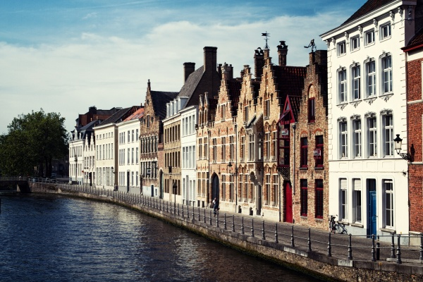Bruges Canal in Sunlight