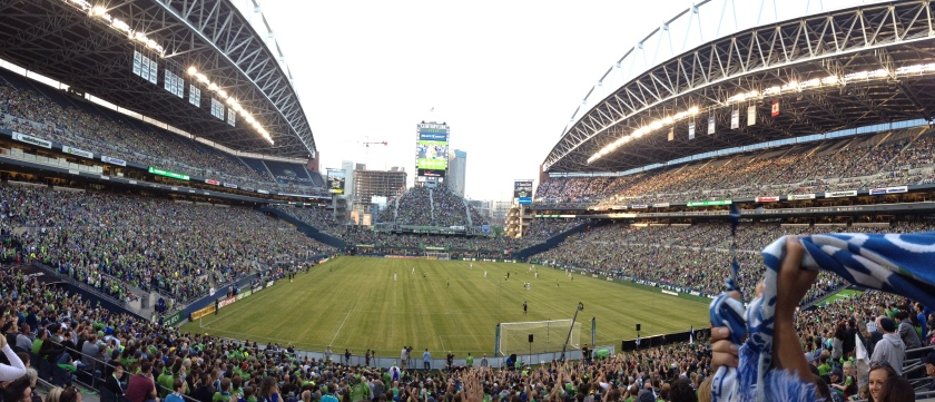 Panorama of Seattle Sounders Stadium