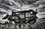 Harvester Combine Black&White