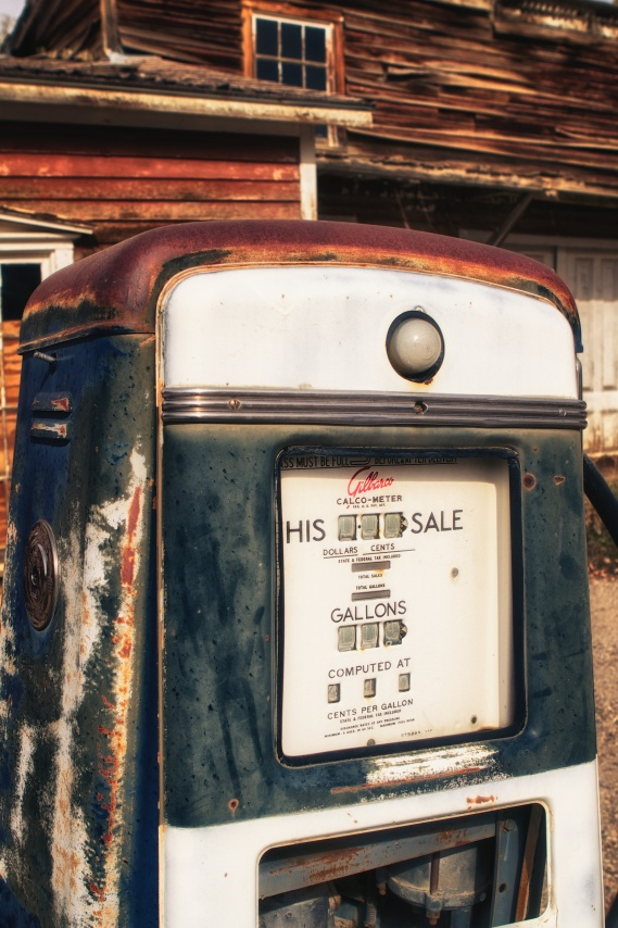 Old gas pump - blue