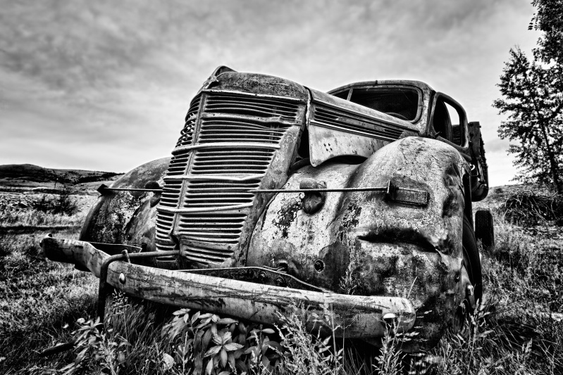 Abandoned Car Wreck in Montana