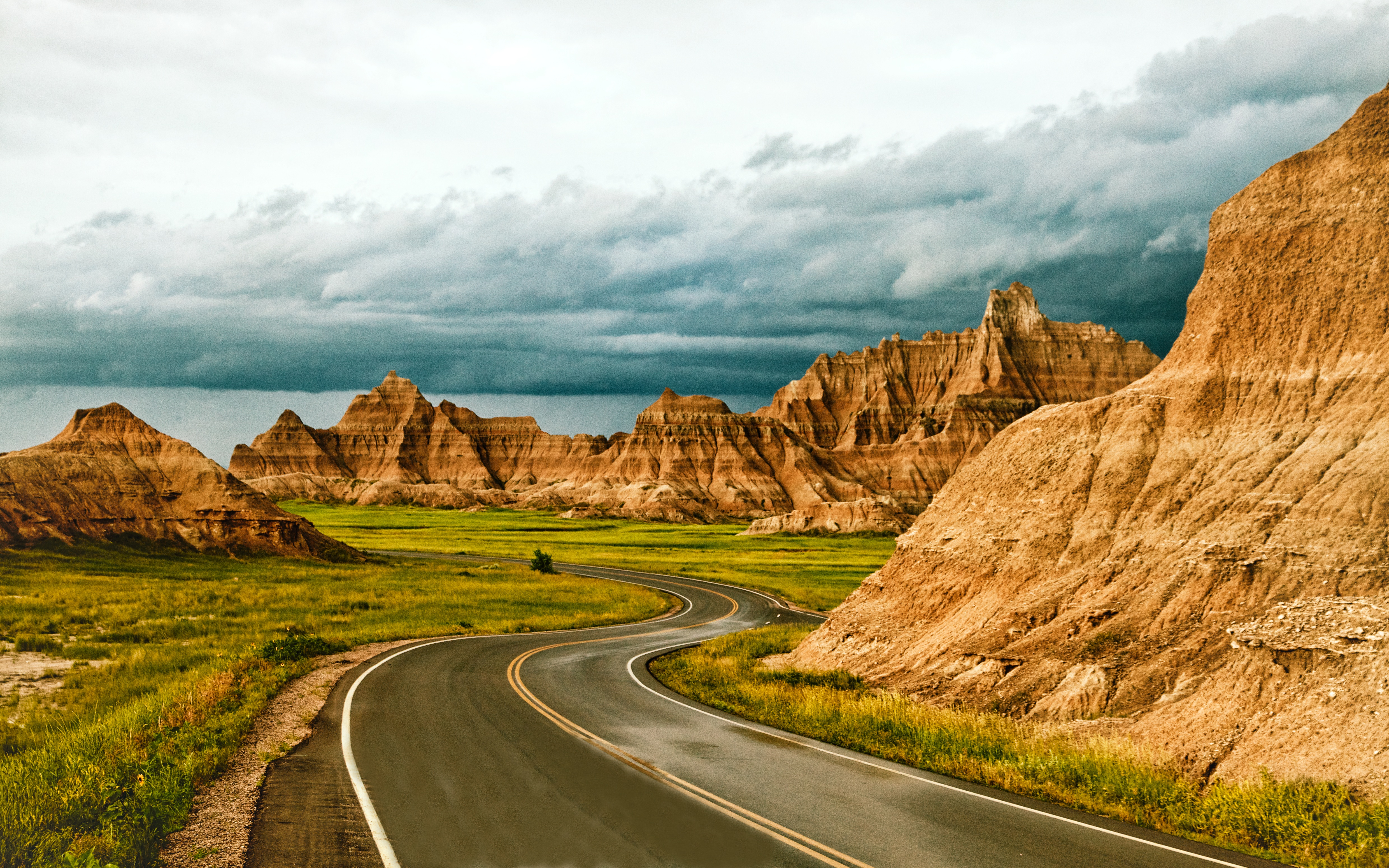 Natural Wonders Of The United States Badlands National Park South Dakota In United States Of