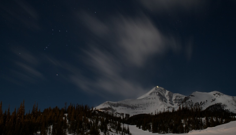 Night Sky over Lone Mountain