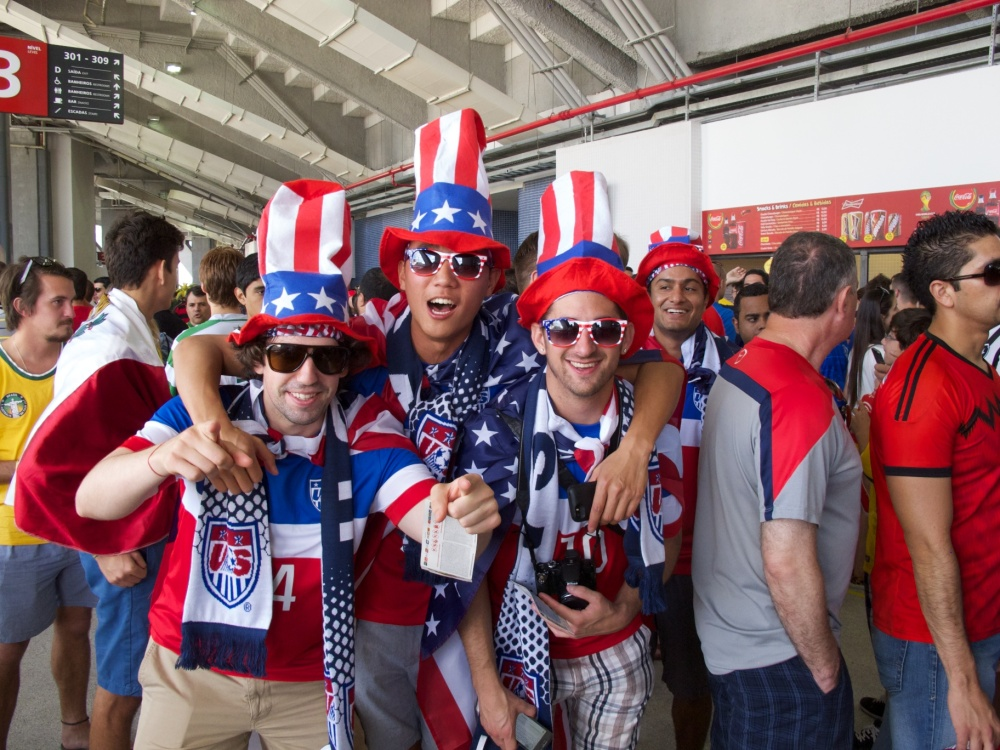 US Soccer fans at Maracana stadium