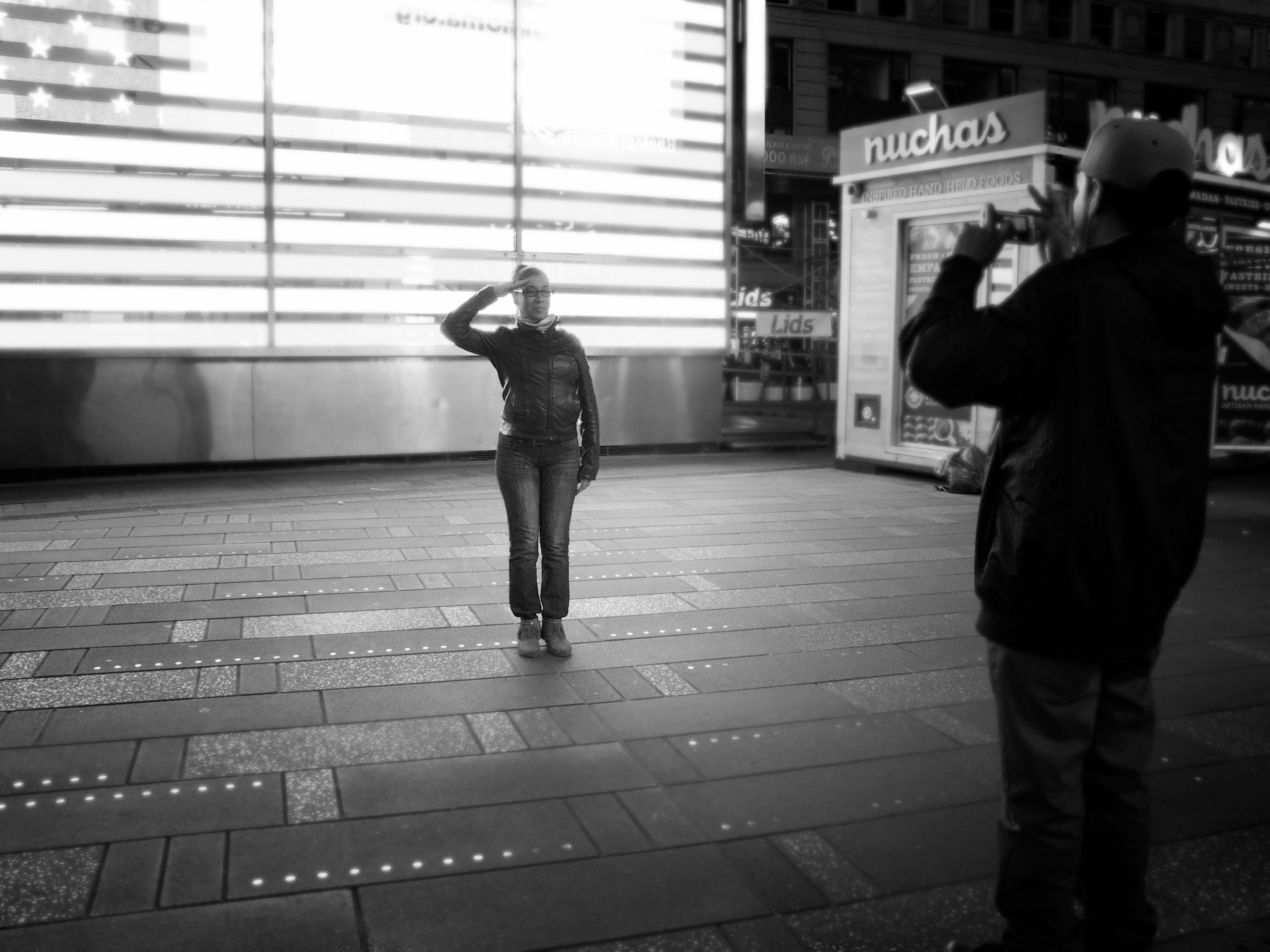 Times Square portrait