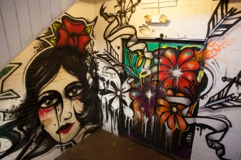 graffiti in factory