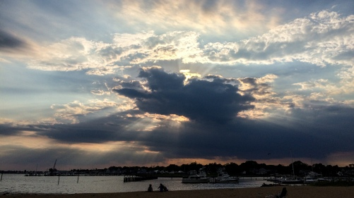 sunset over Clinton Beach
