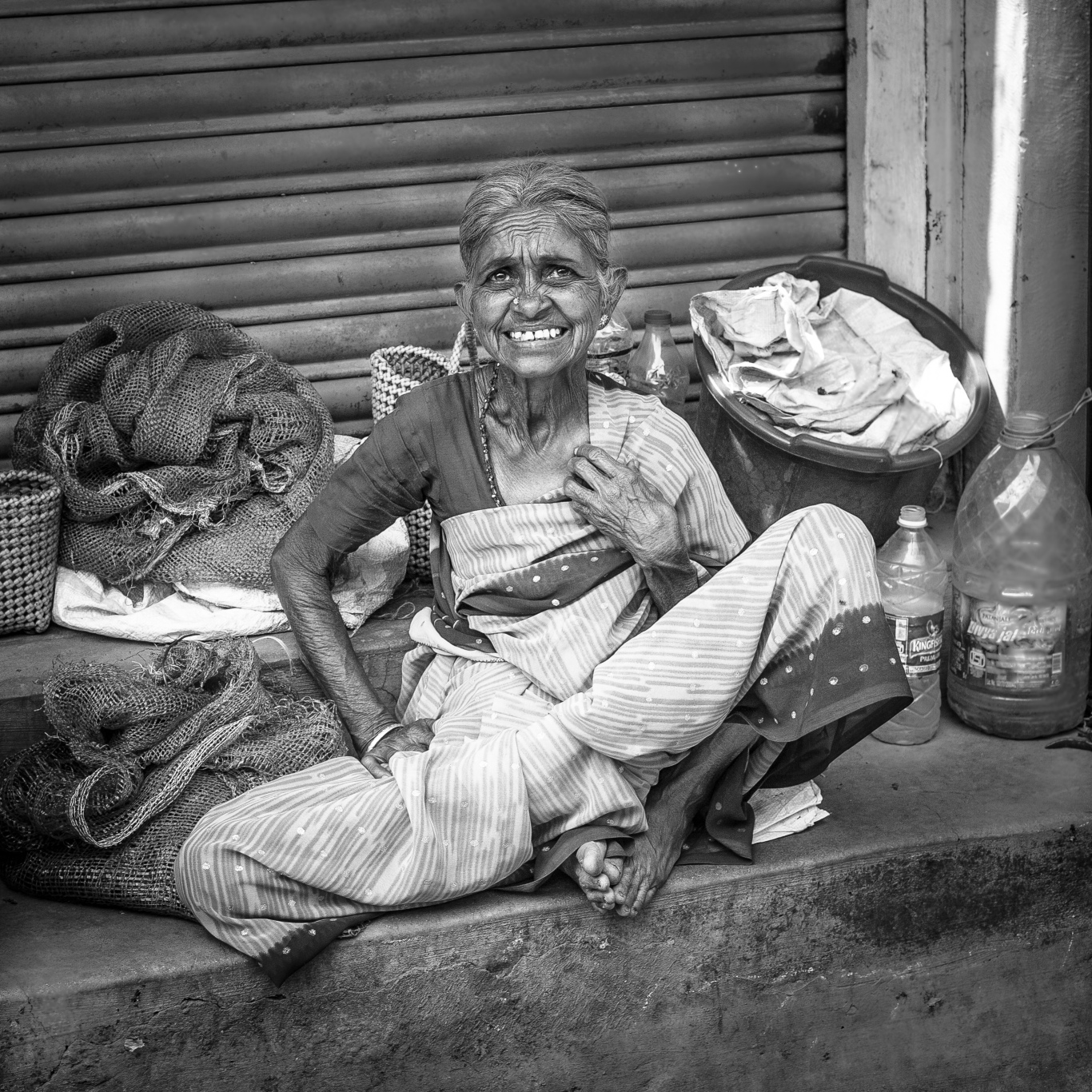 Old woman in market