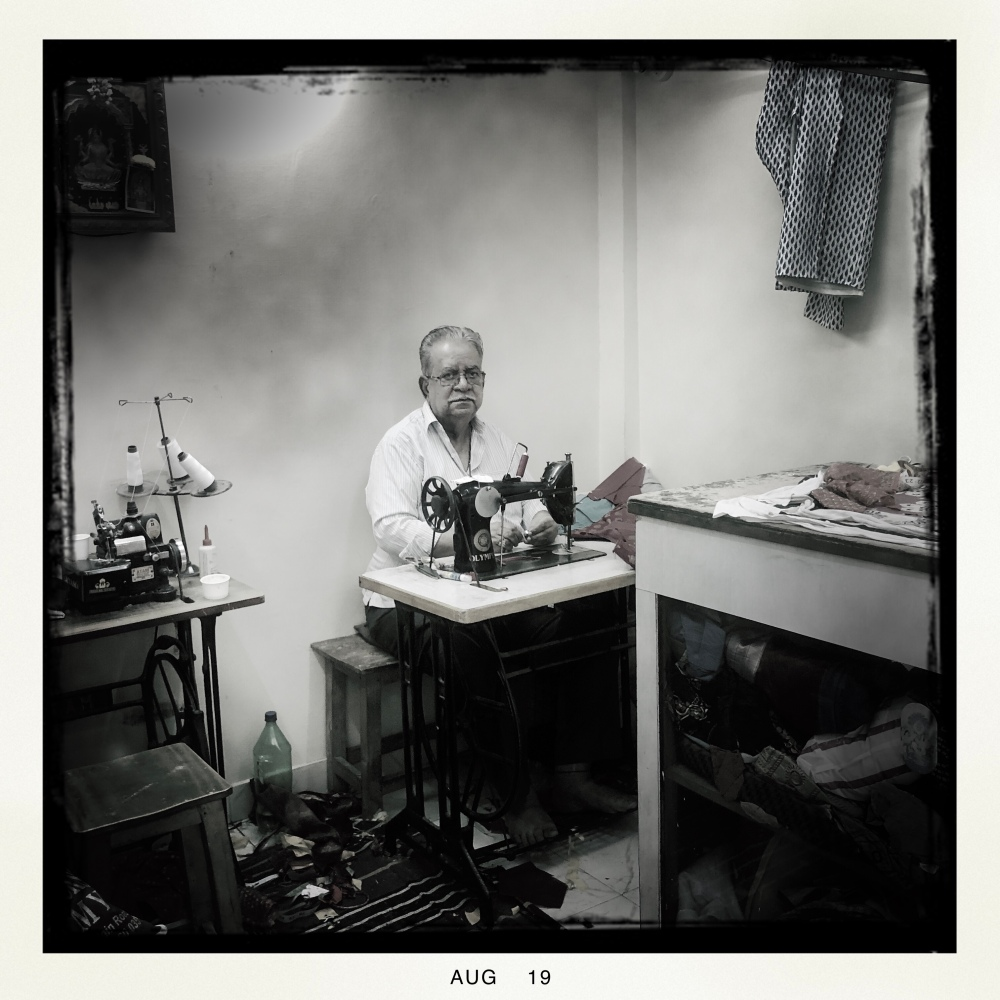 Tailor in his shop