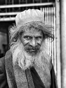 Bearded man in India
